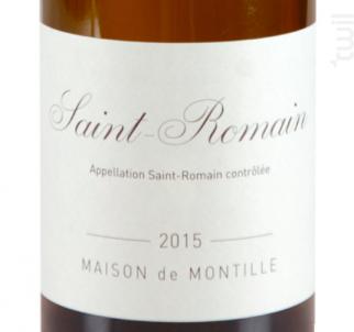 Saint-Romain - Domaine de Montille - 2017 - Blanc