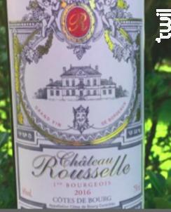 Château Rousselle - Château Rousselle - 2016 - Rouge