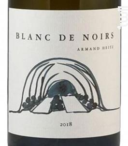Blanc de Noirs - Domaine Heitz Lochardet - 2018 - Blanc