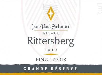 Pinot Noir Rittersberg Grande Réserve - Domaine Jean-Paul Schmitt - 2015 - Rouge