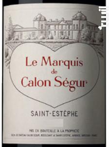 Le Marquis - Château Calon Ségur - 2015 - Rouge