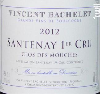 Santenay Premier Cru Clos des Mouches - Domaine Vincent Bachelet - 2012 - Rouge
