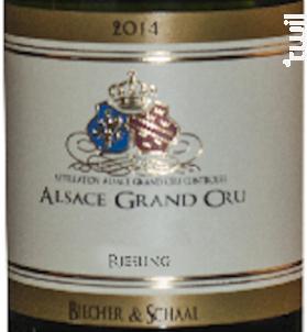 Grand Cru Rosacker - Riesling - Biecher & Schaal - 2011 - Blanc