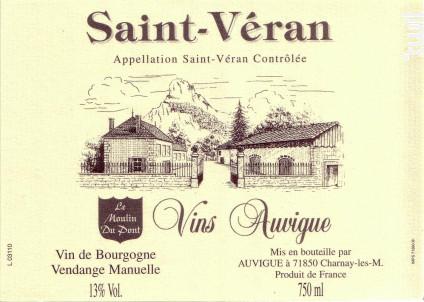 Saint-Véran - Moulin du Pont - Domaine Auvigue - 2015 - Blanc