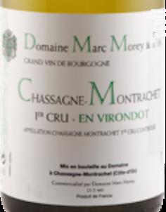 CHASSAGNE MONTRACHET 1er cru En Virondot - Domaine Marc Morey - 2016 - Blanc