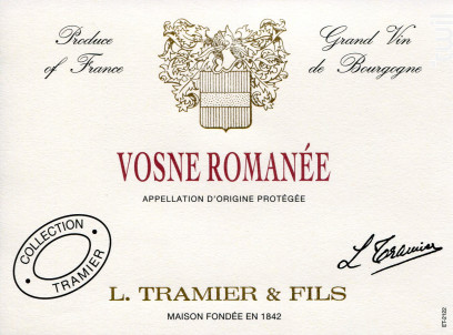 Vosne Romanée - Maison L. Tramier et Fils - 2013 - Rouge