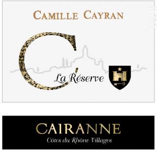 La Réserve - Cave de Cairanne - 2016 - Blanc