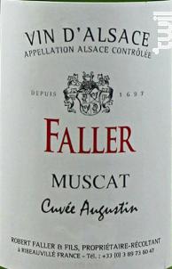 Cuvée Augustin - Robert Faller et Fils - 2018 - Blanc