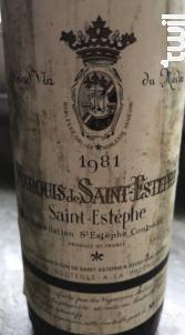 Marquis de Saint-Estephe - Marquis de Saint-Estephe et Châtellerie de Vertheuil - 1981 - Rouge