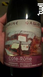 Côte-Rotie - Domaine Gallet - 2017 - Rouge