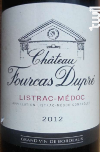 Château Fourcas Dupré - Château Fourcas Dupré - 2012 - Rouge