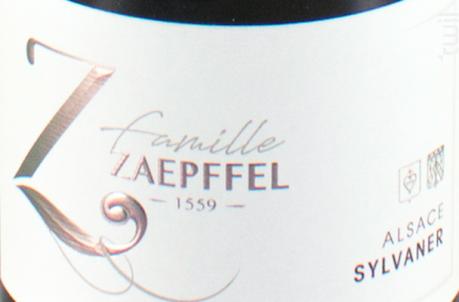 Sylvaner - Famille Zaepffel - 2018 - Blanc