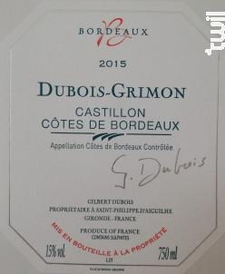 Dubois-Grimon - Château Grimon - 2015 - Rouge