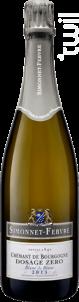Crémant de Bourgogne dosage 0 blanc de blanc - Simonnet Febvre - 2013 - Effervescent
