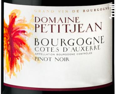 Bourgogne Côtes d'Auxerre - Domaine Petitjean - 2019 - Rouge