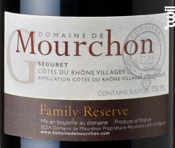 Family Reserve Grenache - Domaine de Mourchon - 2016 - Rouge