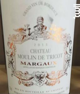 Château Moulin de Tricot Margaux - Château Moulin de Tricot - 1990 - Rouge