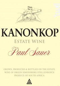 Paul sauer - cabernet sauvignon, cabernet franc, merlot - KANONKOP - 2016 - Rouge