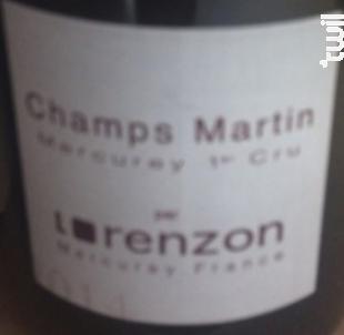 Mercurey Premier Cru Champs Martin - Lorenzon - 2014 - Rouge
