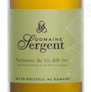 Pacherenc du Vic Bilh Sec - Domaine Sergent - 2017 - Blanc
