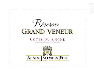 Réserve Grand Veneur - Alain Jaume - 2018 - Blanc
