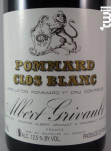Pommard Premier Cru Clos Blanc - Domaine Albert Grivault - 2016 - Rouge