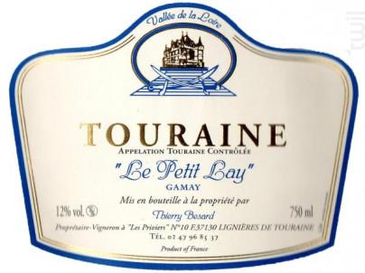 Cuvée Le Petit Lay - Domaine Thierry Besard - 2013 - Rouge