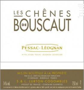 Les chênes de Bouscaut Rouge - Château Bouscaut - 2014 - Rouge