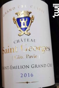 Château Saint Georges Côte Pavie - Château Saint-Georges Côte Pavie - 2016 - Rouge