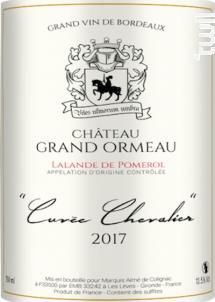 Cuvée Chevalier - Château Grand Ormeau - 2017 - Rouge