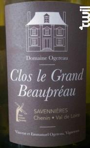 Clos le Grand Beaupréau - Domaine Ogereau - 2016 - Blanc