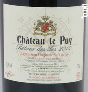 Retour des Iles - Château Le Puy - 2015 - Rouge