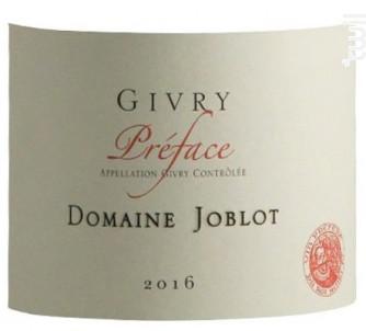 GIVRY Préface - Domaine Joblot - 2016 - Rouge