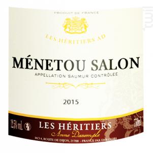Menetou-salon - Anne Dexemple et les Héritiers A.D. - 2018 - Blanc