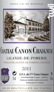 Château Canon Chaigneau - Château Canon Chaigneau - 2019 - Rouge