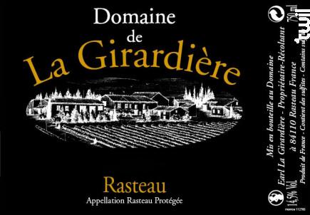 Rasteau - Domaine de la Girardière - 2018 - Rouge