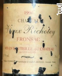 Château Richotey - Château Pipeau-Richotey-Virecourt - 1990 - Rouge