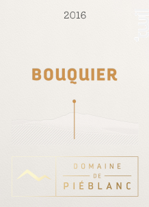Bouquier - Domaine de Piéblanc - 2016 - Rouge