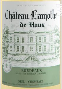 Chateau Lamothe De Haux - Château Lamothe de Haux - 2020 - Blanc