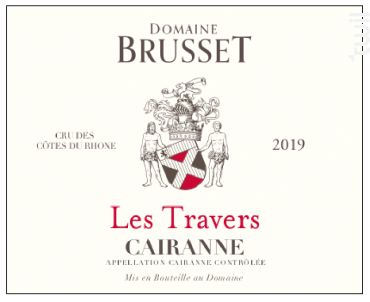 Les Travers - Domaine Brusset - 2019 - Rouge