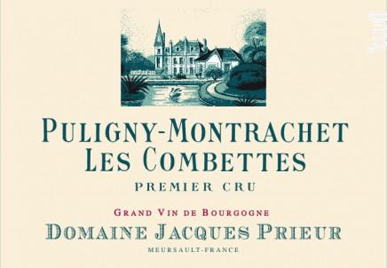 Puligny-Montrachet Les Combettes 1er Cru - Domaine Jacques Prieur - 2018 - Blanc