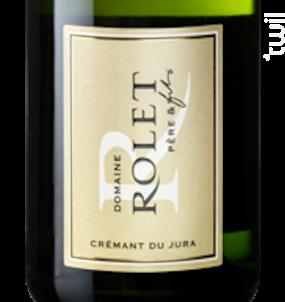 Crémant du Jura Blanc Brut - Domaine Rolet - Non millésimé - Effervescent