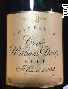 Cuvée William Deutz - Champagne Deutz - 2008 - Effervescent