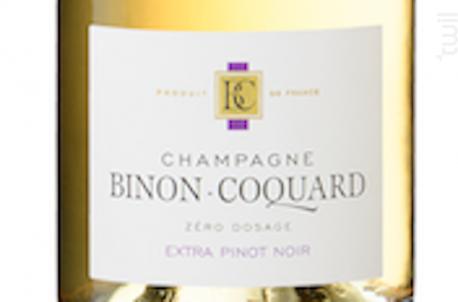 Extra Pinot Noir - Champagne Binon Coquard - Non millésimé - Effervescent