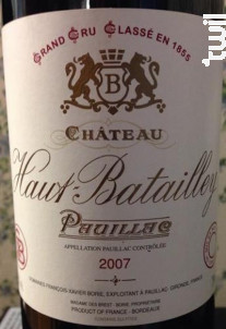 Château Haut Batailley - Château Haut Batailley - 2007 - Rouge