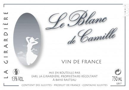 Le Blanc de Camille - Domaine de la Girardière - 2019 - Blanc