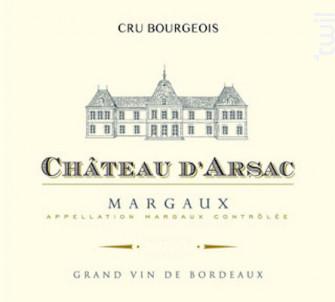 Château d'Arsac - Château D'Arsac - 2016 - Rouge