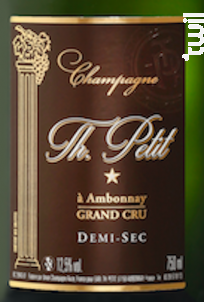 Cuvée Demi-Sec Grand Cru - Champagne Th. Petit - Non millésimé - Effervescent