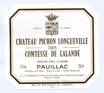 Château Pichon Longueville Comtesse de Lalande - Château Pichon Longueville Comtesse de Lalande - 2005 - Rouge