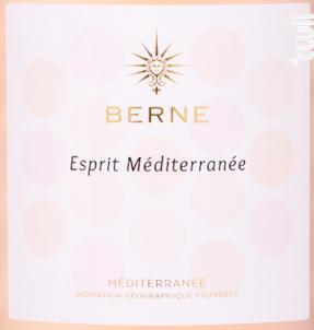 Berne Esprit Méditerranée - Château de Berne - 2020 - Rosé